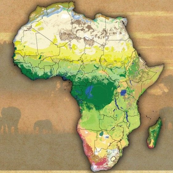 New Africa Map.New Map Sharpens View Of African Ecosystems African Conservation