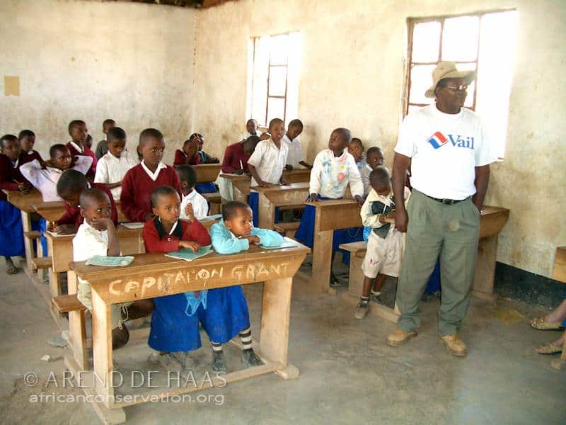 Sebastian Chuwa believed strongly in the importance of teaching environmental education (Photo: Arend de Haas)