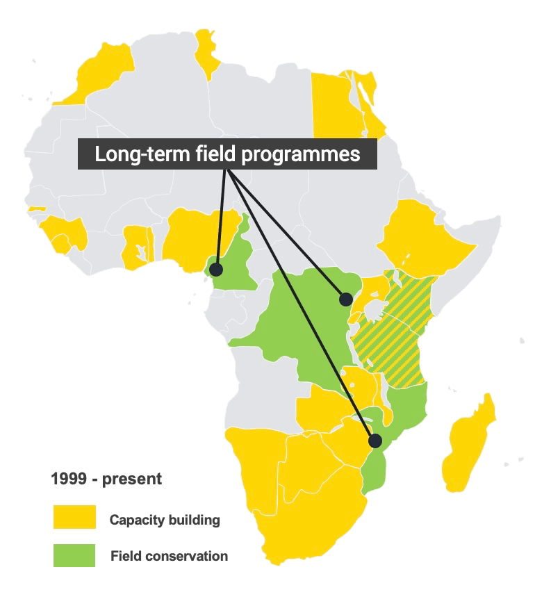 African conservation impact map